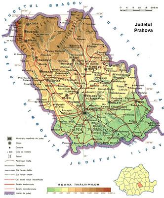 Harta judet Prahova