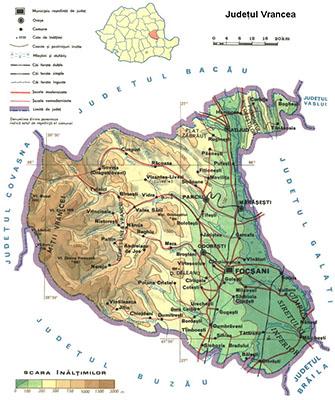 Harta judet Vrancea